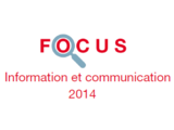 Couverture Focus Information et communication 2014