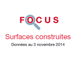 Couverture Focus Surfaces construites 2014